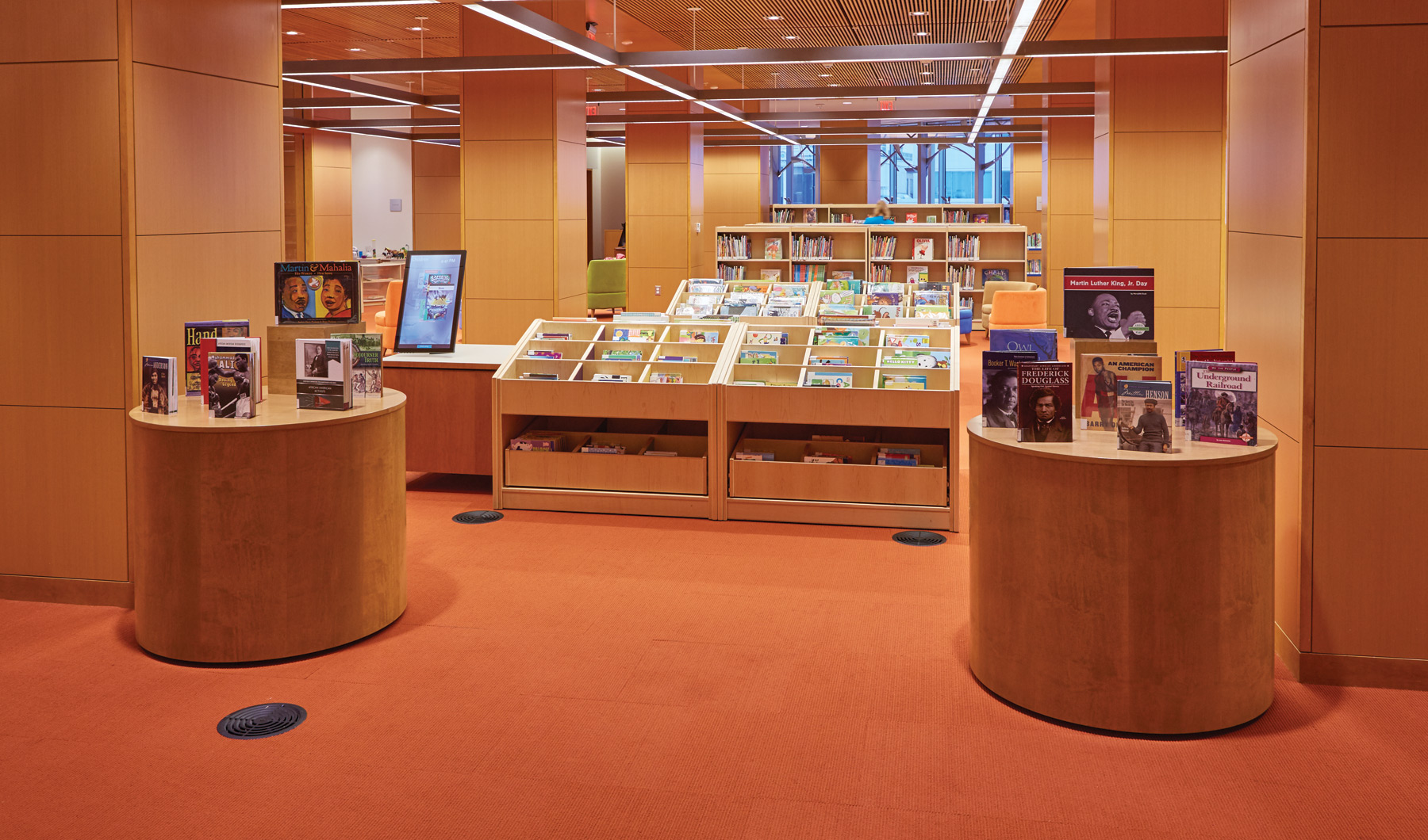 Slover Library - Round Displays