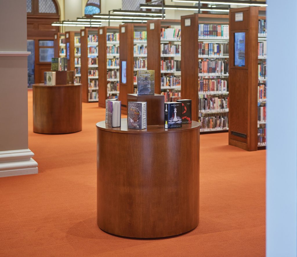 Slover Library - Round Dispalys