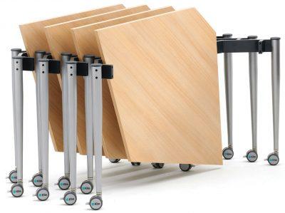 Muzo Kite® 750 Series Mobile Tables—Kite Shape