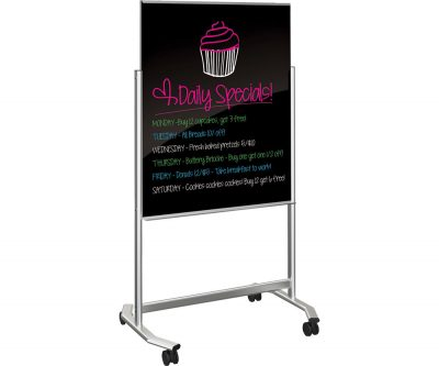 Visionary® Move Mobile Glass Markerboard