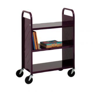 Demco Library Quiet Flat-shelf Booktruck