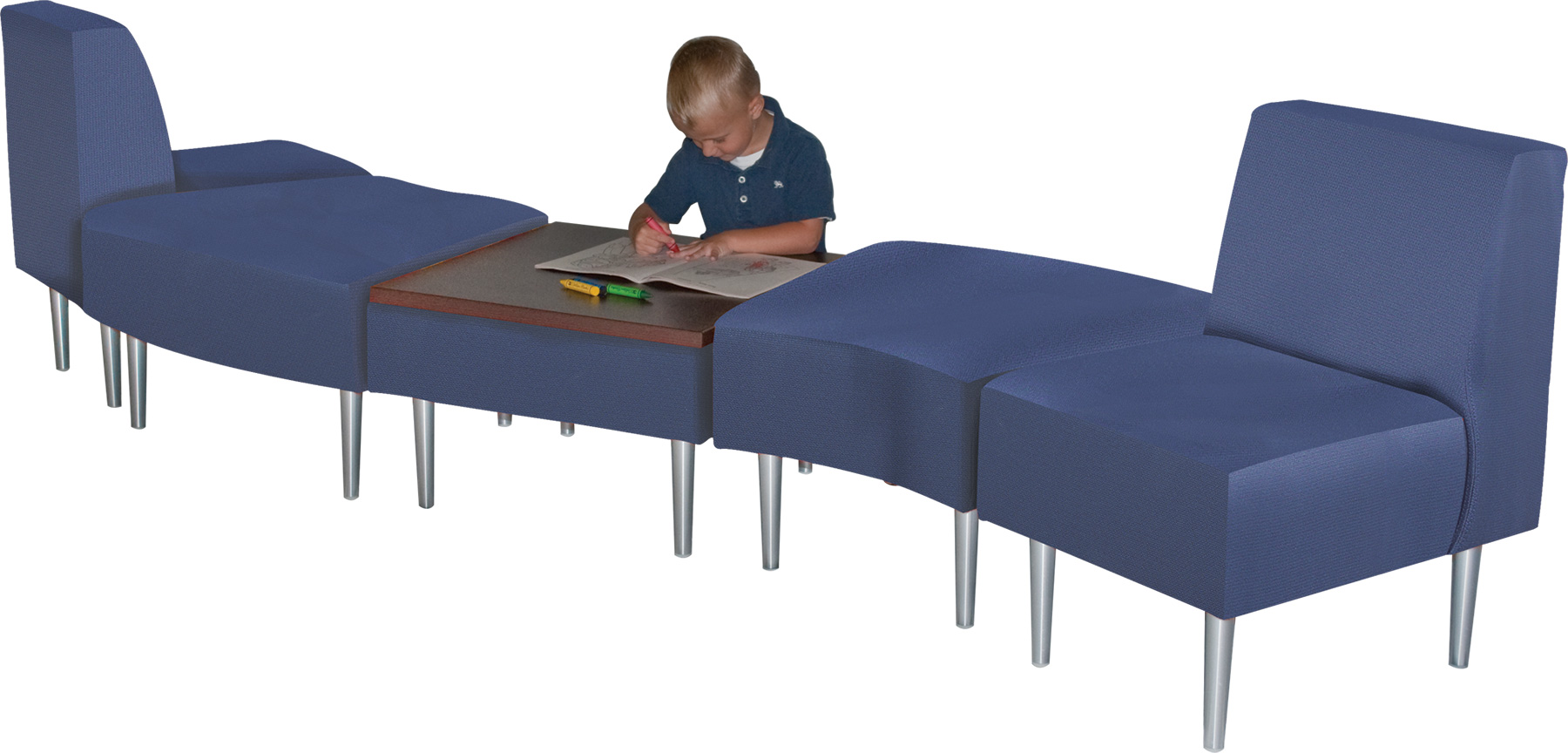 HPFI® Evette Curved Modular Lounge Seating