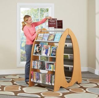 Freestanding Multimedia Book Pod Display