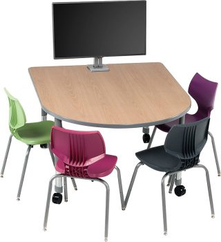 Smith System™ D-shaped Media Table