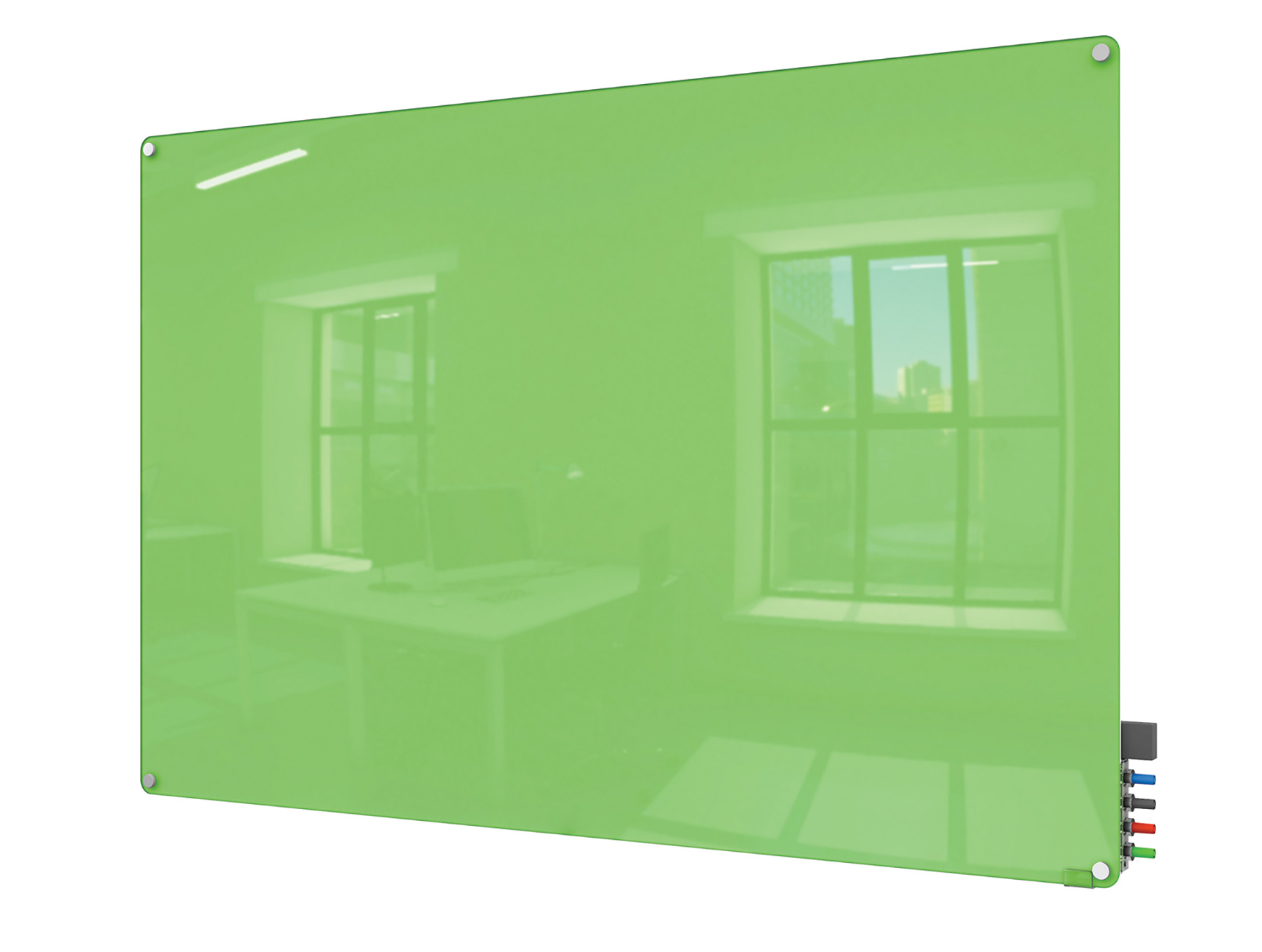 Ghent® Harmony Color Magnetic Glass Markerboards