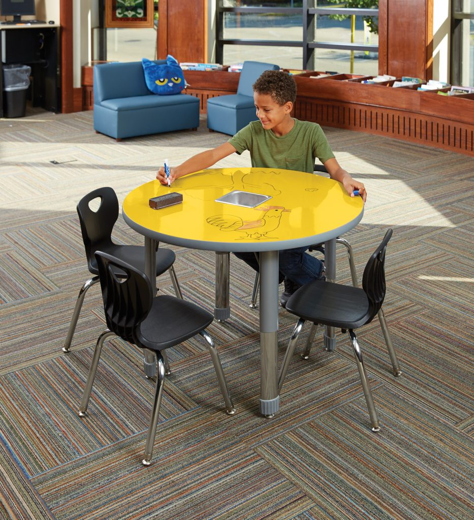 Allied™ Imagination Station Colorful Dry-erase Tables – Round