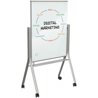Visionary® Curve Mobile Glass Whiteboard