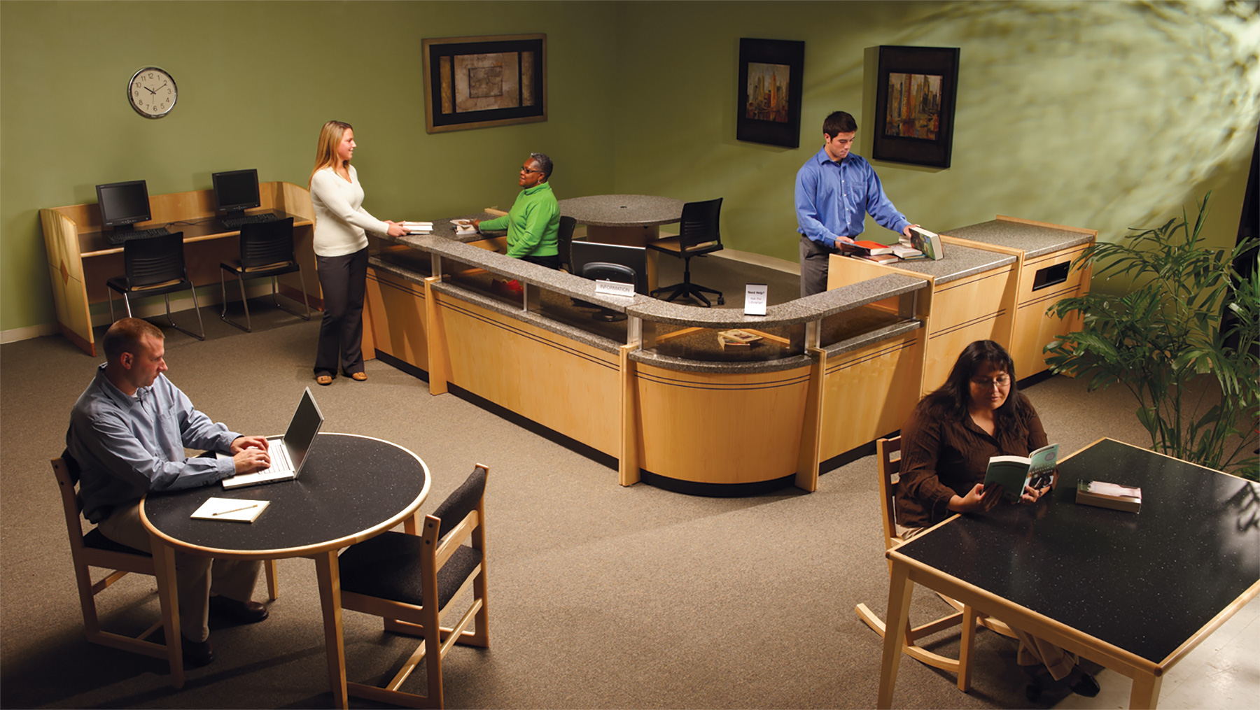 Gaylord® Harmony™ Circulation Desks