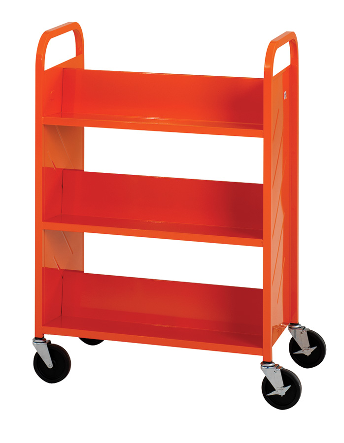 Demco® LibraryQuiet™ Sloped-shelf Booktrucks