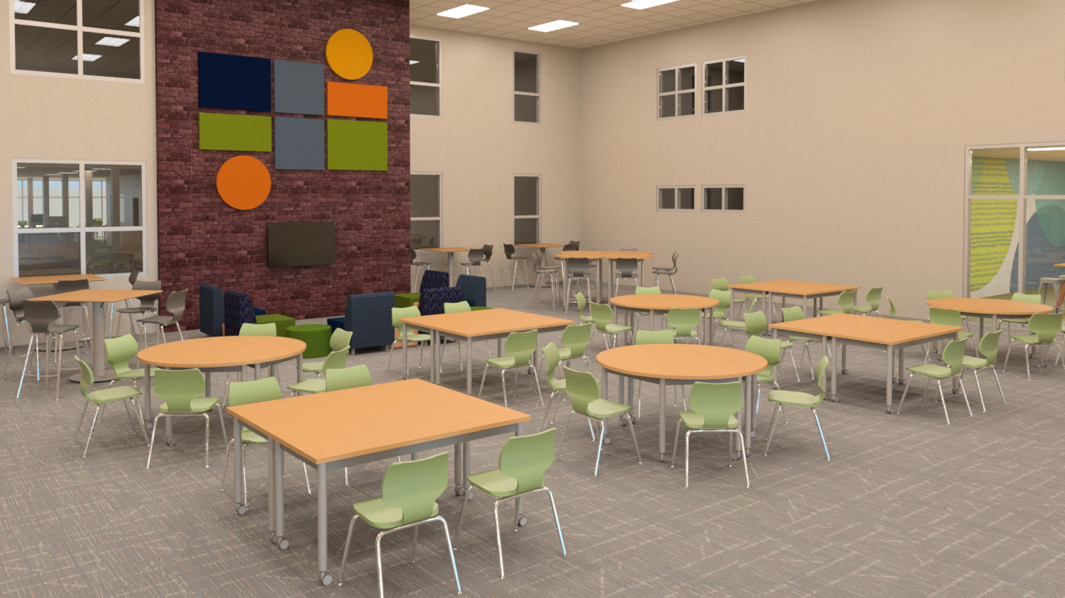 High school commons learning environment
