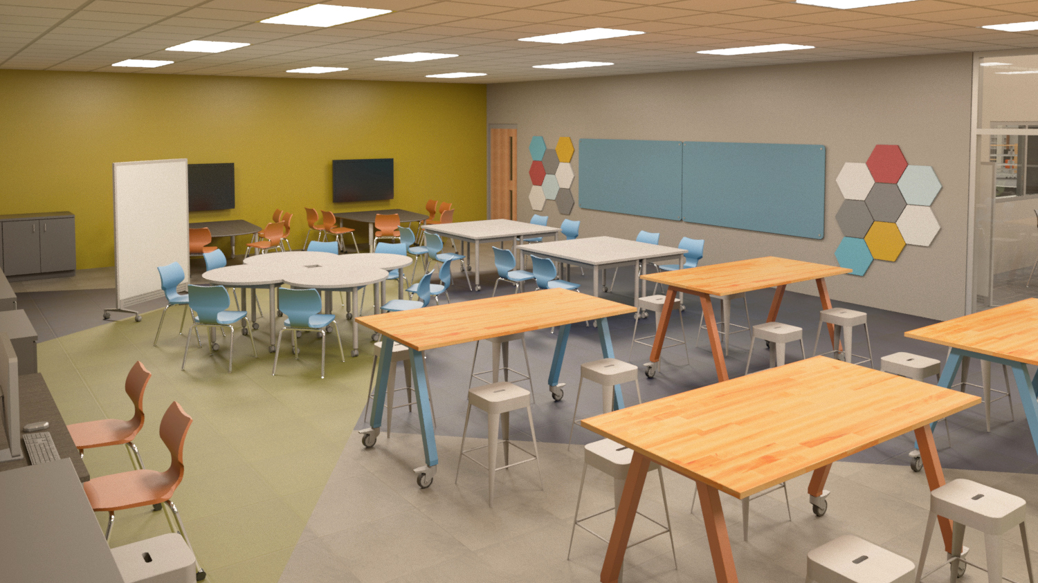 High school makerspace learning environment