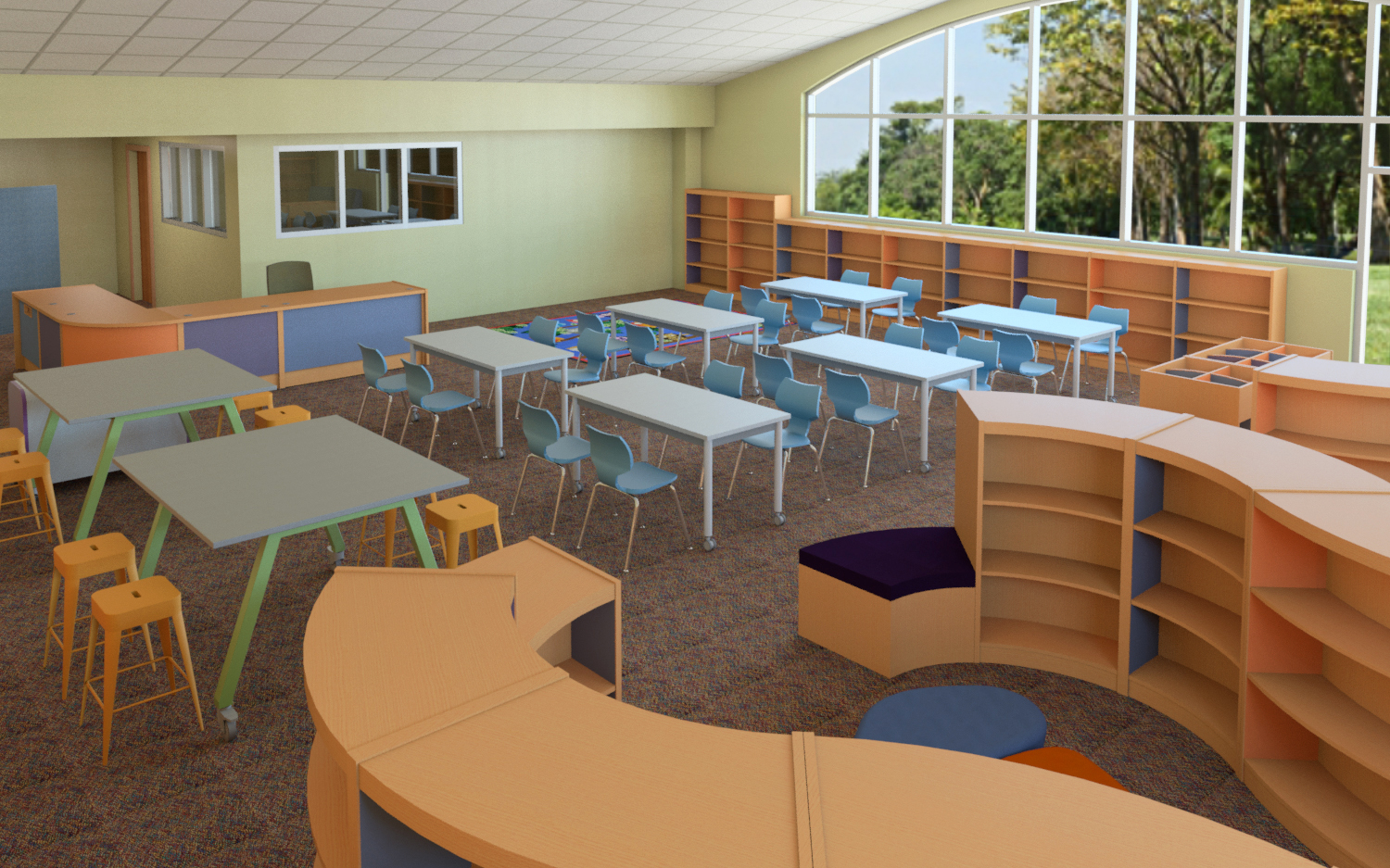 Elementary library learning environment