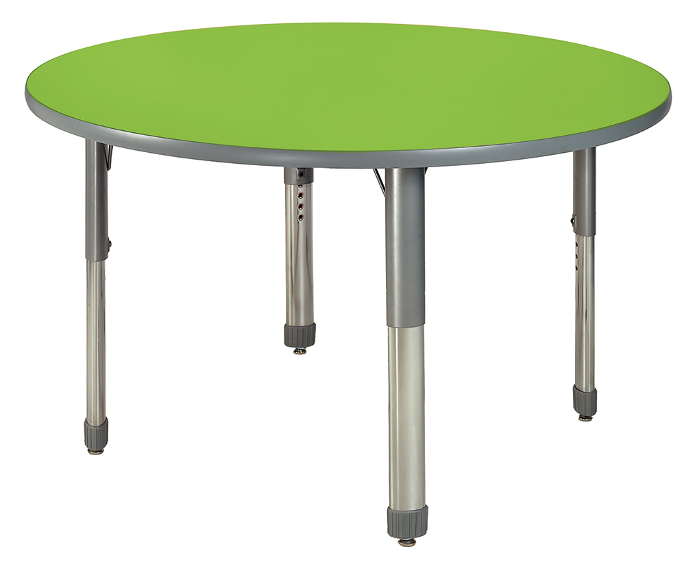 Allied™ Imagination Station Colorful Dry‑Erase Tables — Round