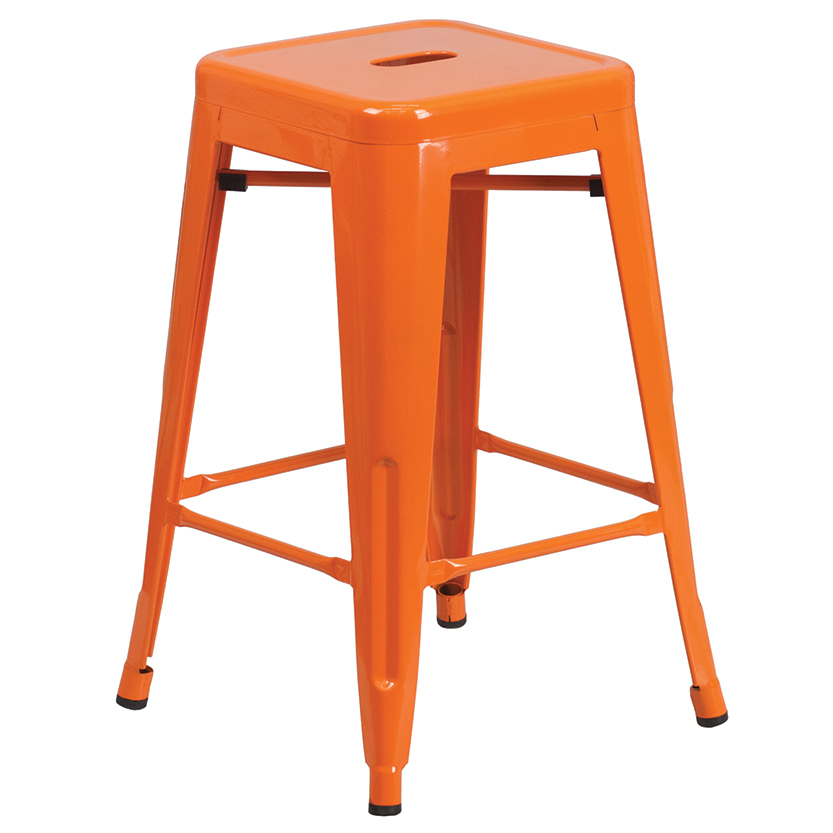 Metal Indoor/Outdoor Counter Height Stools