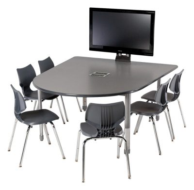 Smith System™ D-Shaped Media Tables