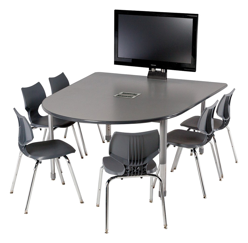 Smith System® Interchange® D-Shaped Media Tables