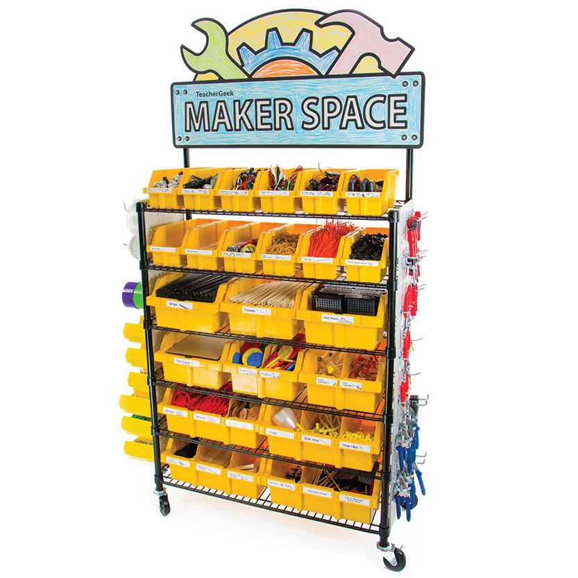 TeacherGeek® Maker Cart Including 15,000 Components
