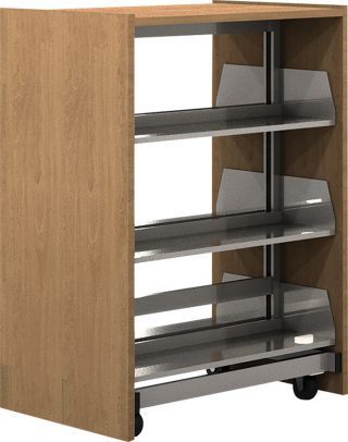 Demco® Mobile Steel Integral Library Shelving - Double-faced