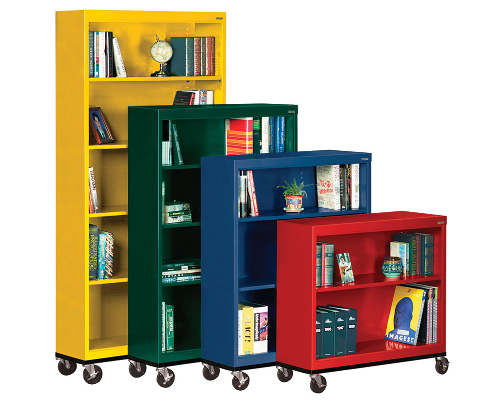 Sandusky Lee® Heavy-duty Mobile Bookcases