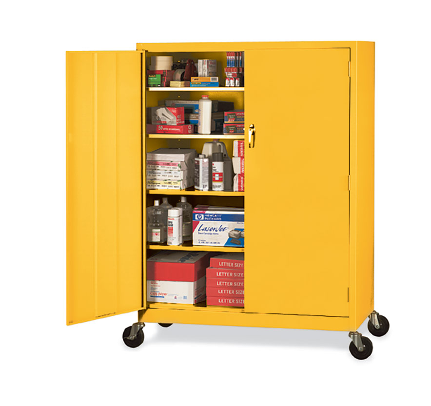 Sandusky Lee® Mobile Steel Extra-wide Storage Cabinets