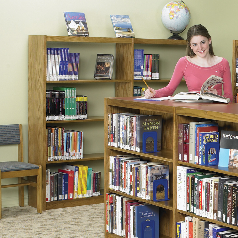 Demco LibraCraft<sup>®</sup> Wood Library Shelving — Single-Faced