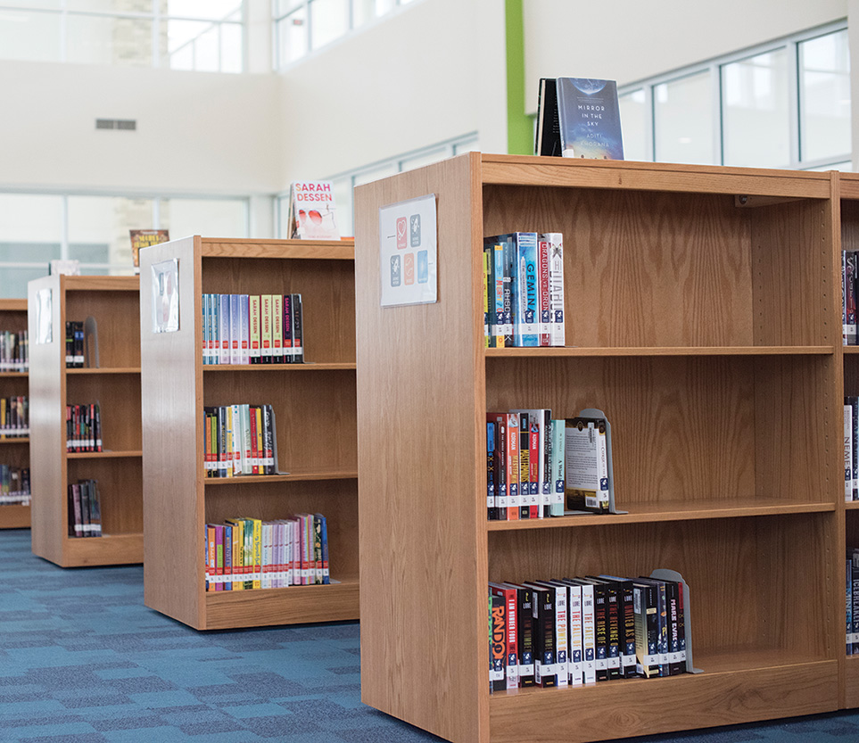Demco LibraCraft Double-Faced Mobile Flat Wood Shelving