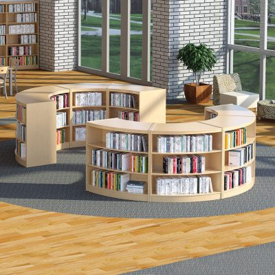LibraCraft® Radius Wood Library Shelving