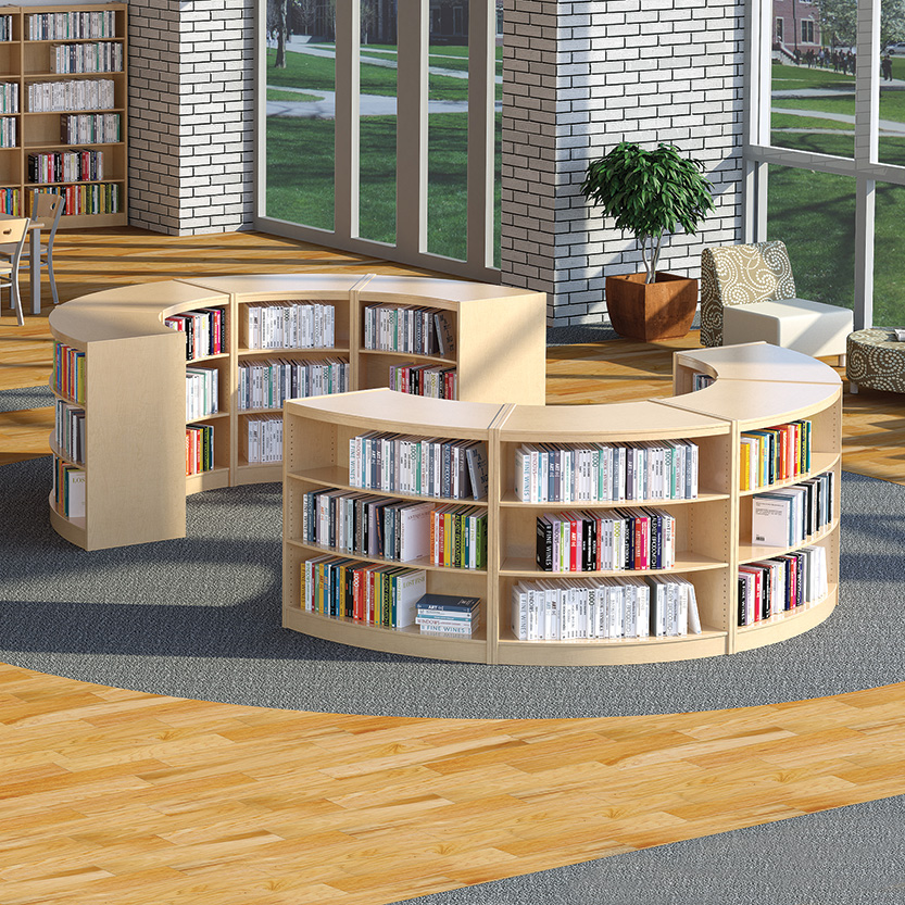Demco® LibraCraft® Radius Wood Library Shelving