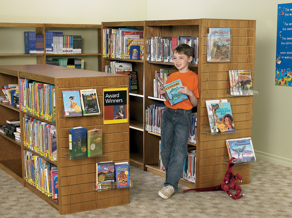 Demco LibraCraft<sup>®</sup> Wood Library Shelving - Double Faced