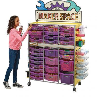 TeacherGeek® Maker Cart 2.0 With over 17,000 Components