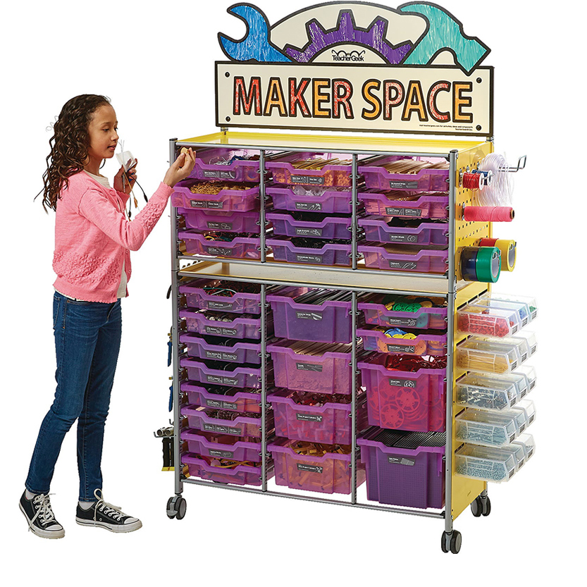 TeacherGeek® Maker Cart 2.0 With over 17,000 Components
