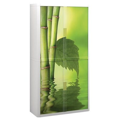 easyOffice® Tambour-Door Storage Cabinets with Graphics