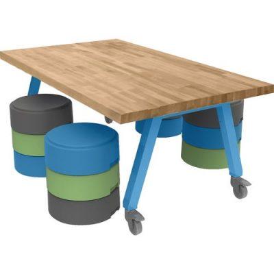 Smith System™ Butcher Block Top Planner™ Studio Tables
