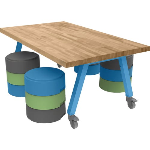 Smith System® Butcher Block Top Planner® Studio Tables