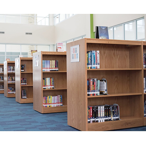 Demco® LibraCraft® Double-faced Mobile Flat Wood Shelving