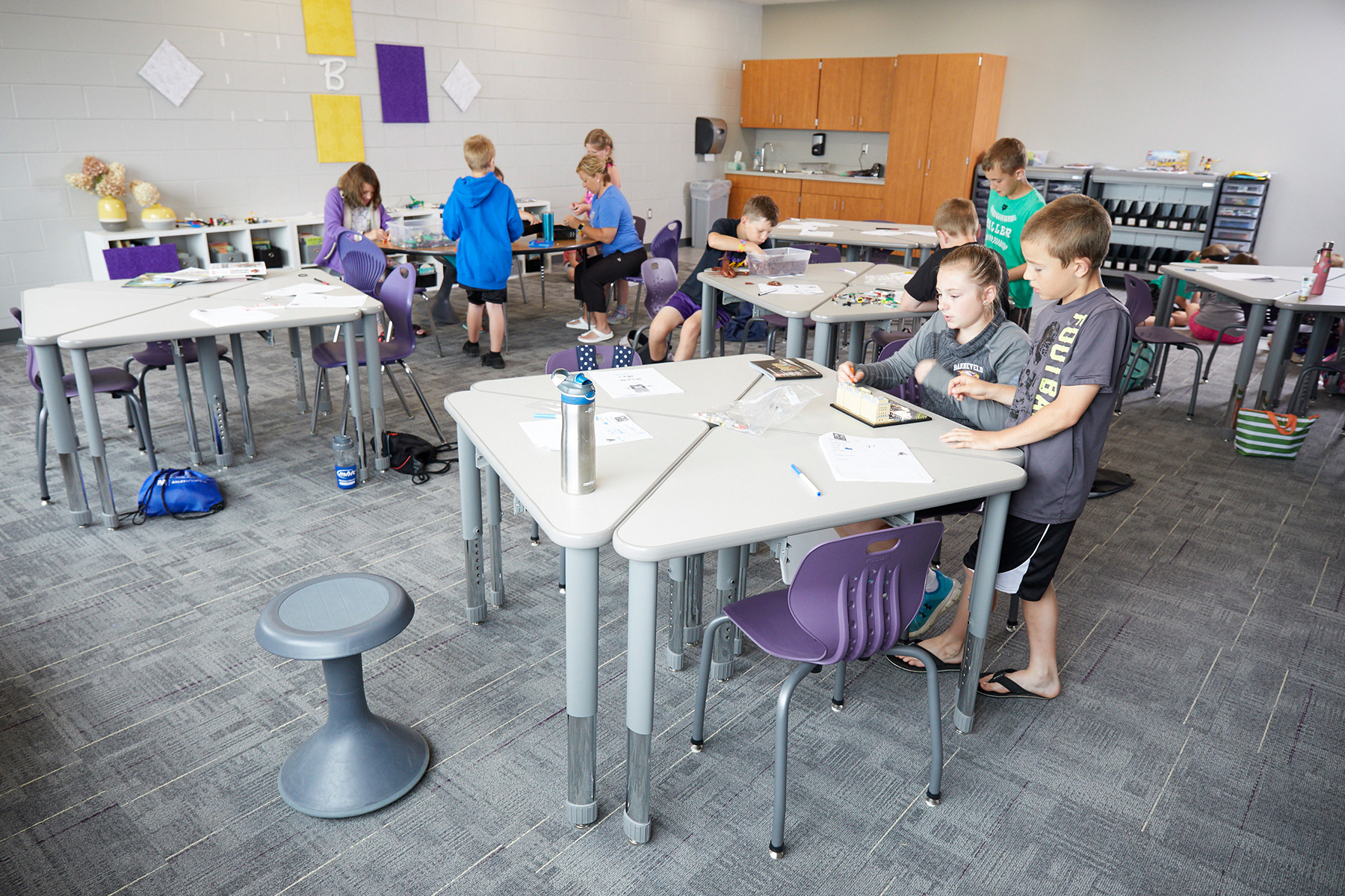 Barneveld students enjoy the new learning space design.