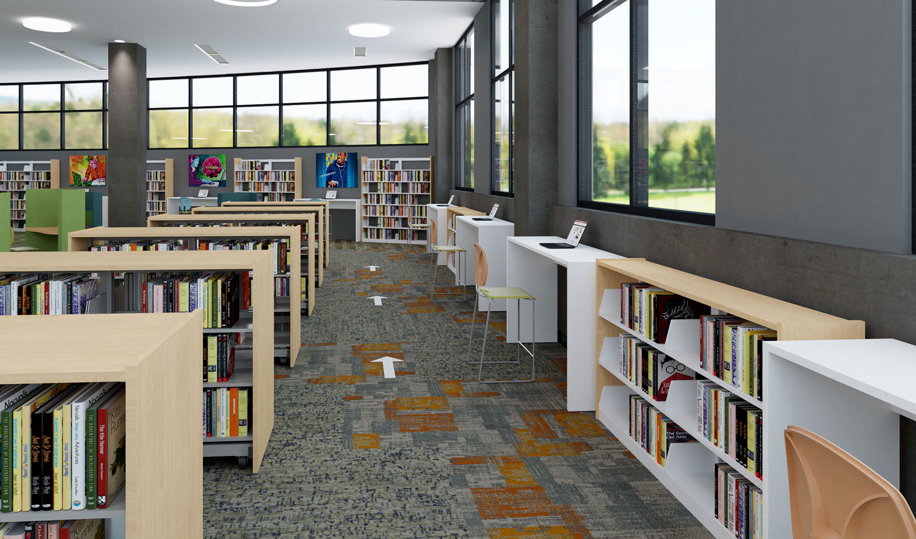 Public Library Designed for Social Distancing