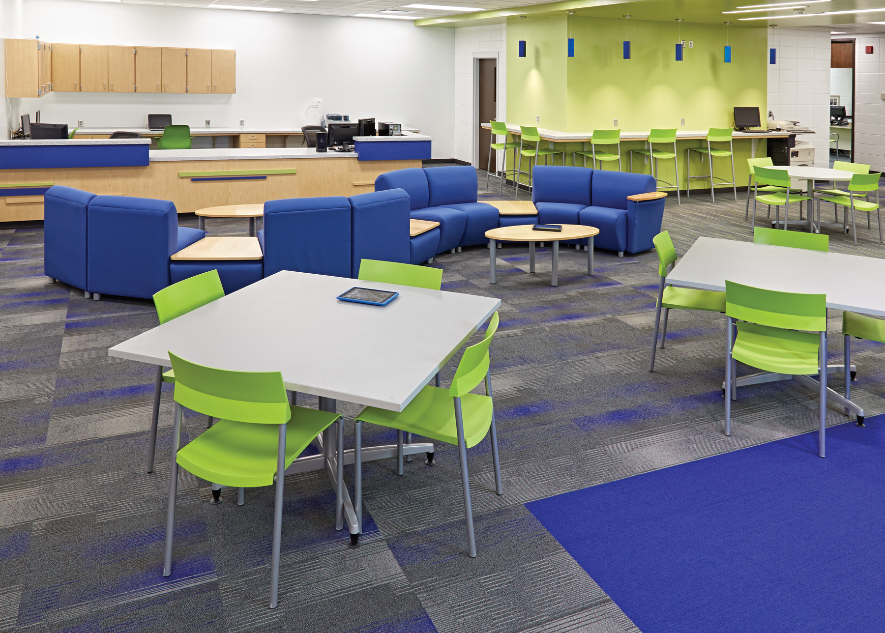 Innovative Elementary Classroom Furniture ~ The new school library transformation inside out