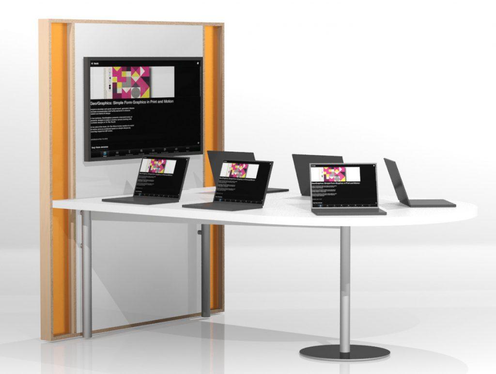 TechnoLink Media Table from Demco