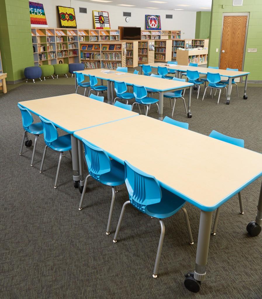 mobile furniture flexibility add up for a school. Black Bedroom Furniture Sets. Home Design Ideas