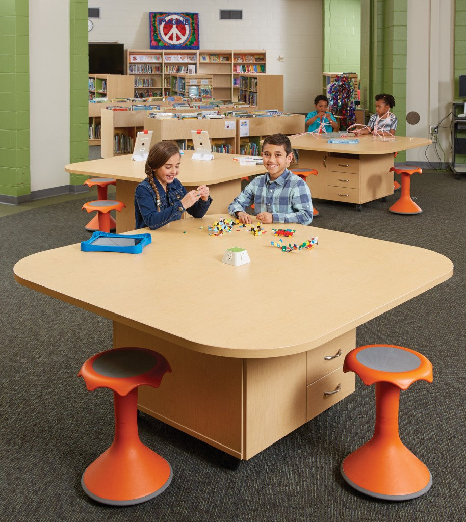 Modern Elementary Classroom Furniture ~ Mobile furniture flexibility add up for a school