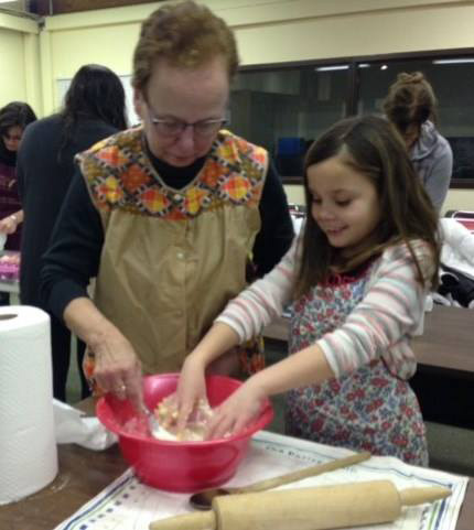 Our all-ages Bake Your Own Bread program resulted in intergenerational fun.