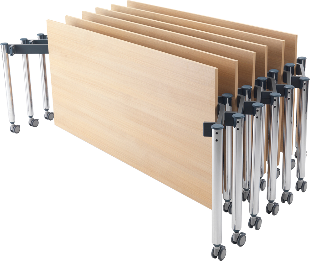 Muzo Kite® 750 Series Mobile Tables—Rectangle