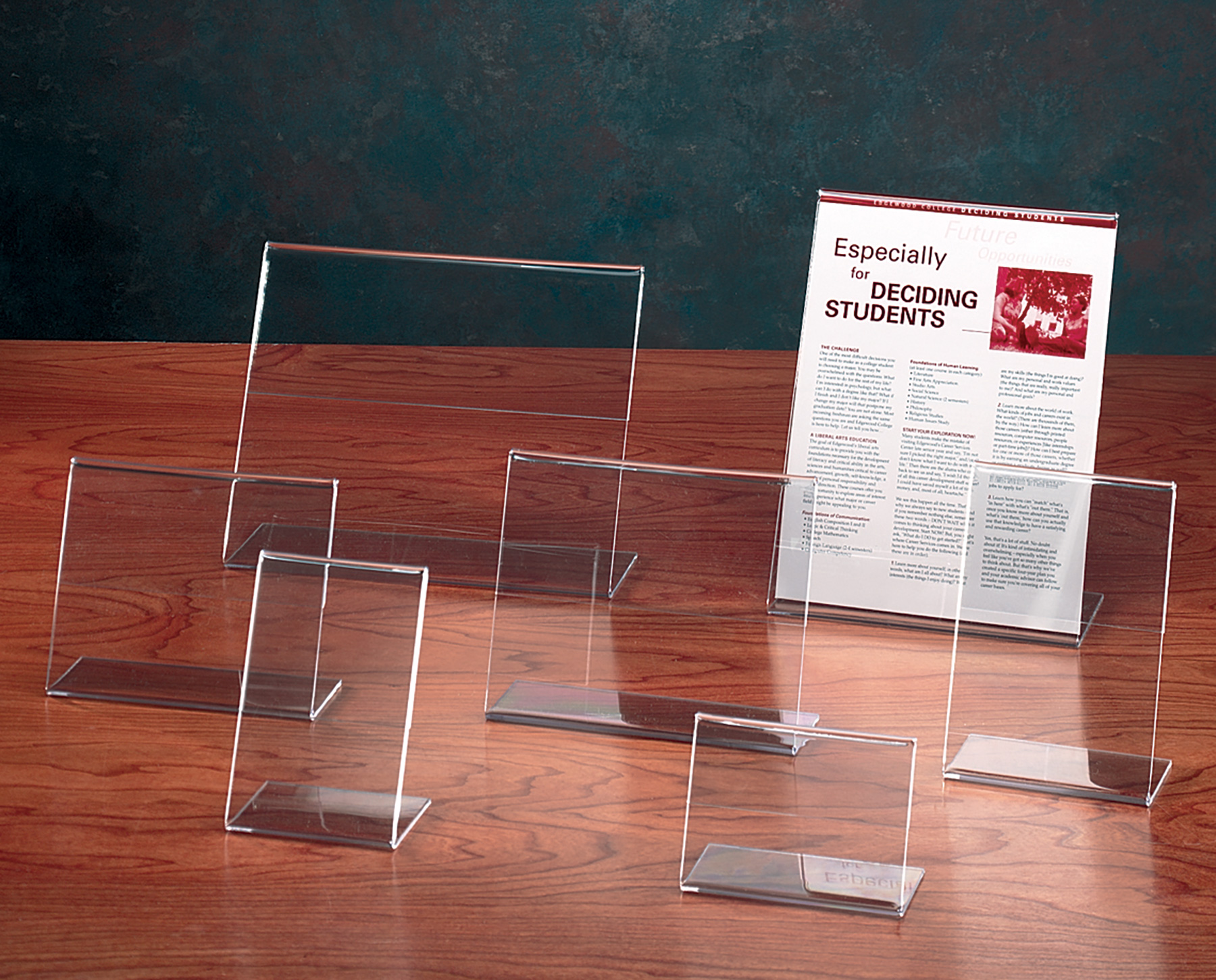 Demco® Clear Plastic Single-sided Sign Holders