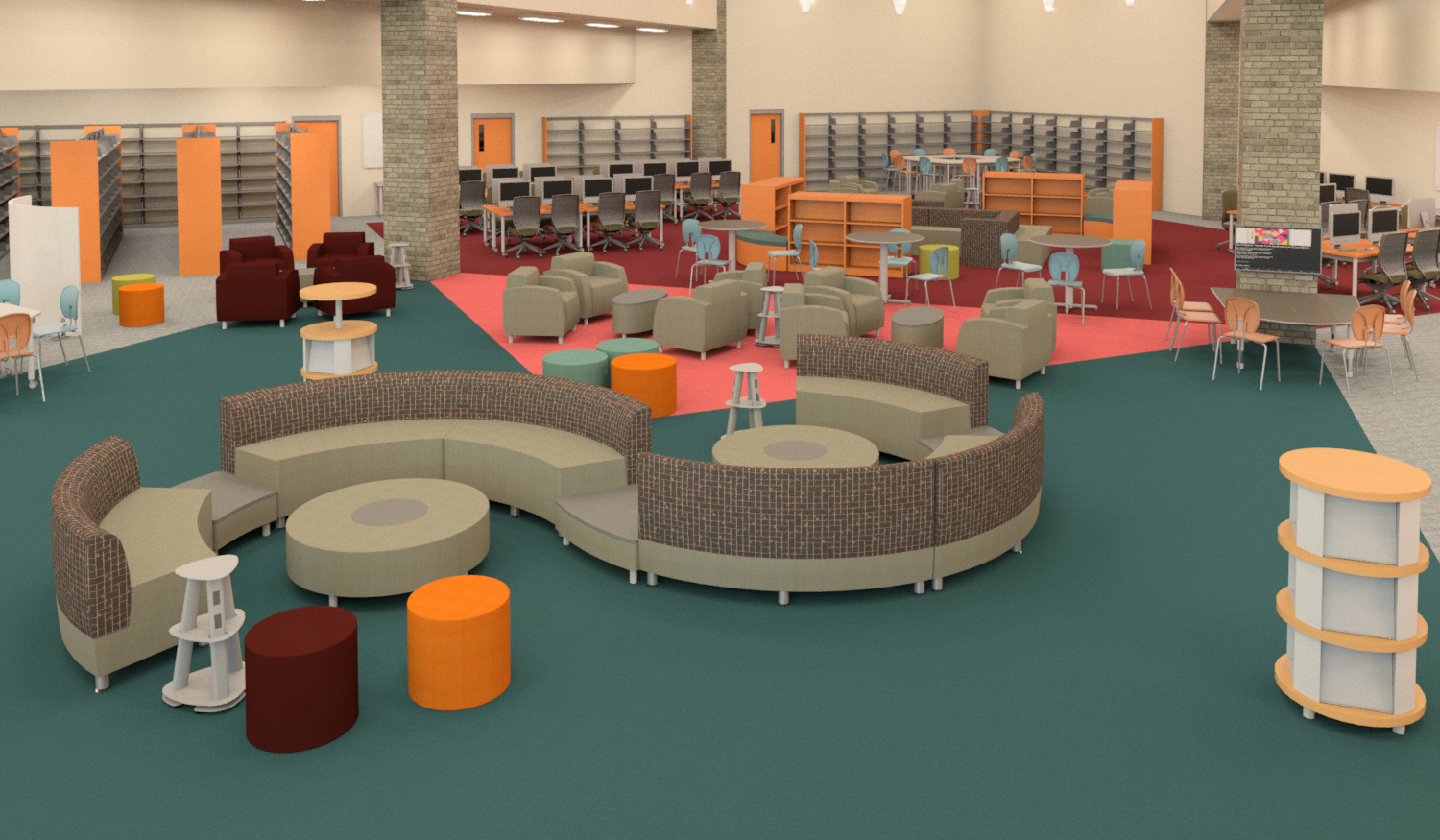 High school library learning environment