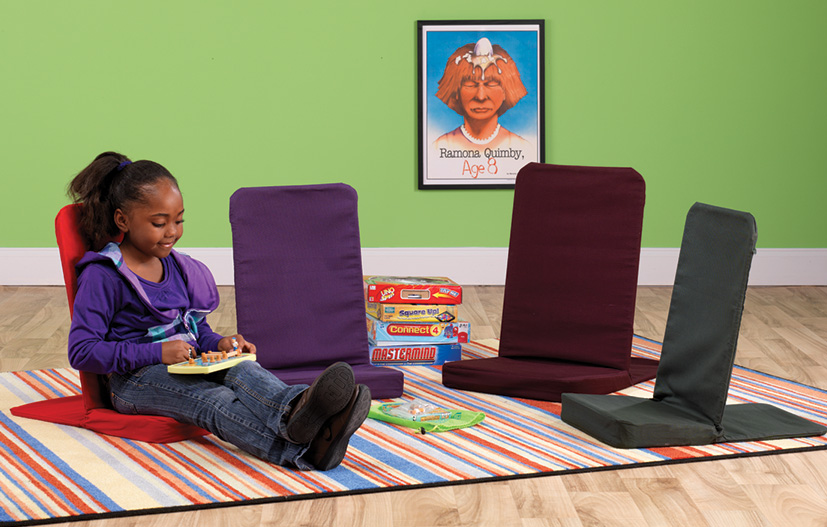 BackJack Floor Chairs offer flexible seating option for students to sit or recline