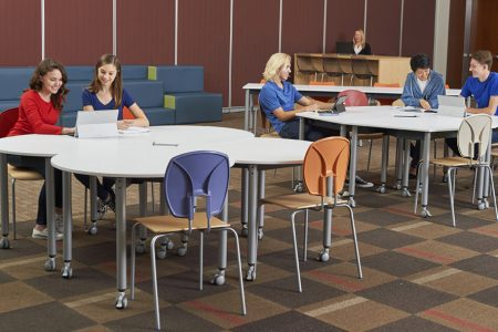 Collaborative space in an active learning environment