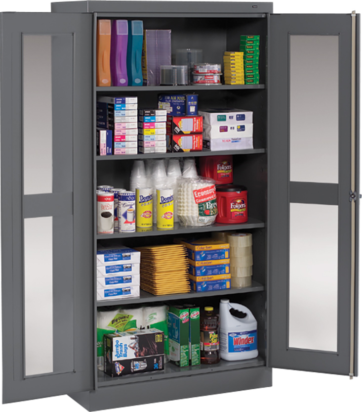 Tennsco® Steel C‑Thru Door Storage Cabinets